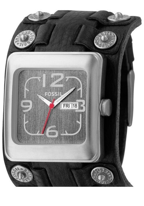 Fossil Men's JR9987 Black Leather Quartz Watch