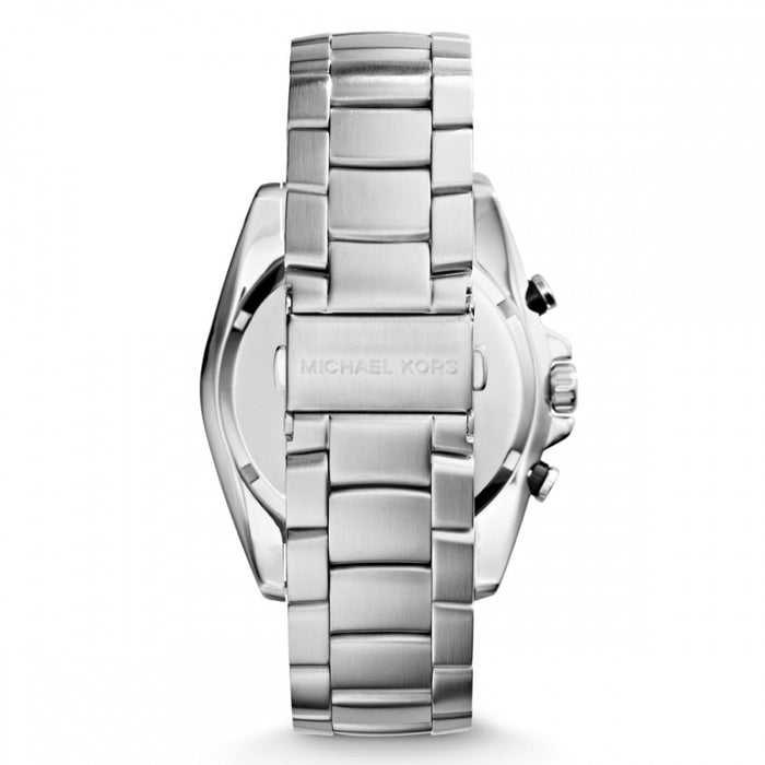 Michael Kors MK8339 Men's Lansing Chronograph Silver-Tone Steel Bracelet and Dial