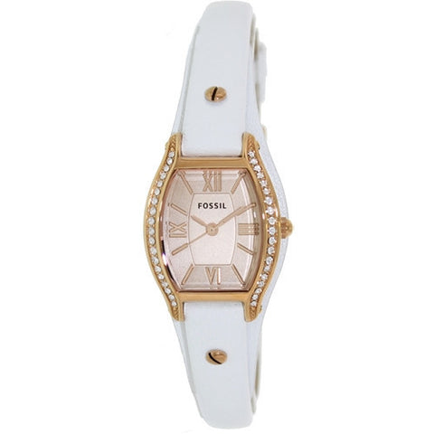 Fossil Molly Three Hand Leather Watch - White Es3289