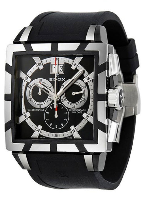 Edox Men's 10013 357N NIN Chronograph Big Date Classe Royale Watch