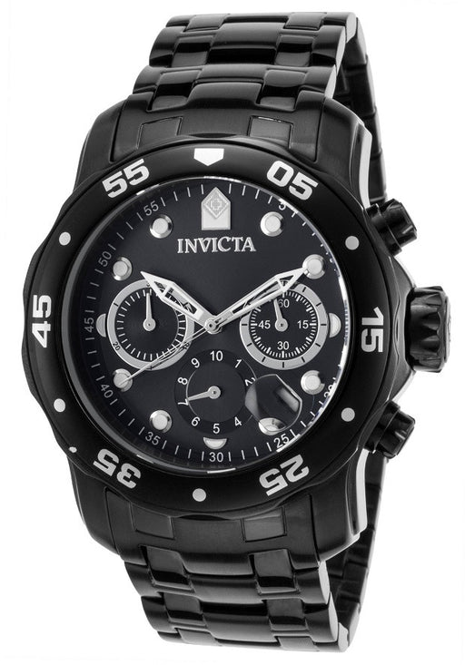 Invicta Men's 21926 Pro Diver Chronograph Black Stainless Steel Watch