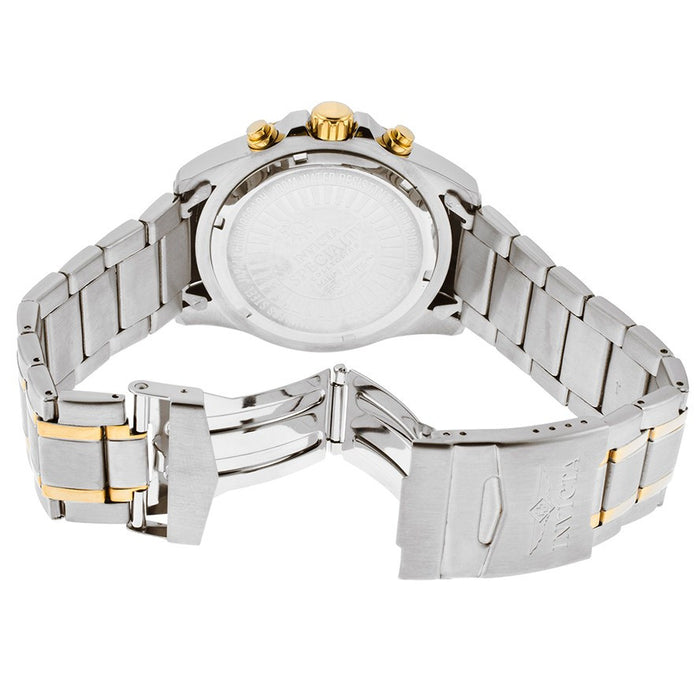 invicta 17014 Men's Specialty Chronograph 18k Two-Tone Bracelet Gold-Tone Dial