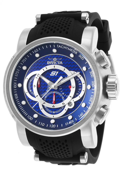 Invicta 19320 Men's S1 Rally Carbon Fiber Blue Dial Steel & Silicone Strap