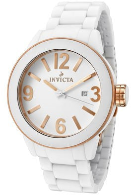 Invicta 1190 Ceramics White Dial White Ceramic