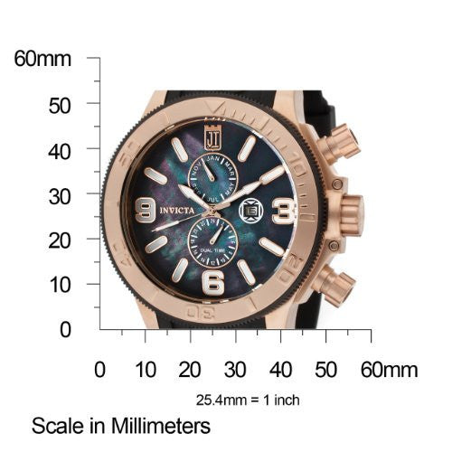 Invicta 13689 from Jason Taylor 18k Rose Gold Ion-Plated Stainless Steel and Black Mother-Of-Pearl Dial Watch