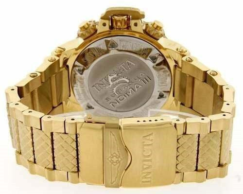 Invicta 14501 Men's Subaqua Chronograph 18K Gold Plated Steel Blue Dial