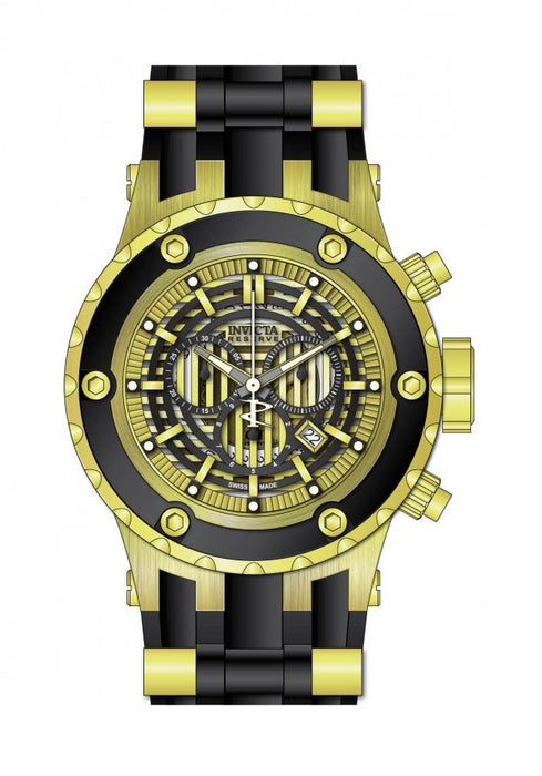 Invicta Men's 16826 Subaqua Quartz Chronograph Black, Gold Dial Watch