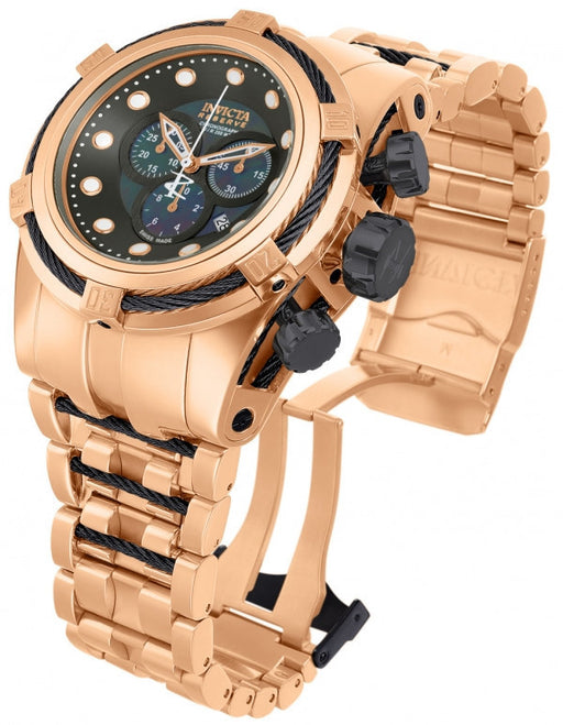 Invicta 12744 Bolt Reserve Grey Dial Rose Gold Chronograph Watch