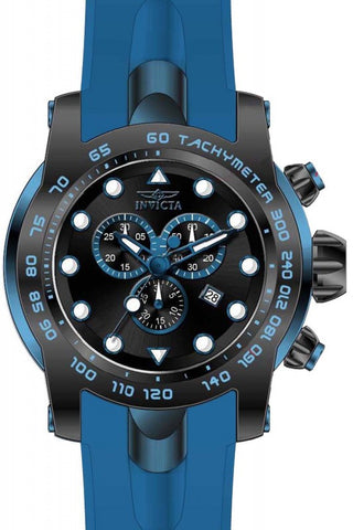 Invicta Pro Diver Chronograph Black Dial Blue Silicone Mens Watch 17810