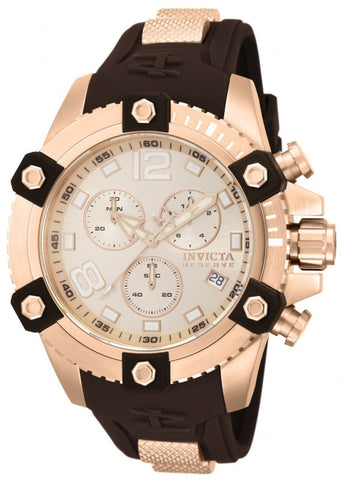 Invicta Men's 80364 Reserve Analog Display Swiss Quartz Brown Watch