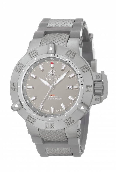 Invicta 0781 Men's Subaqua GMT Grey Dial Grey Polyurethane and Grey Ion Plated