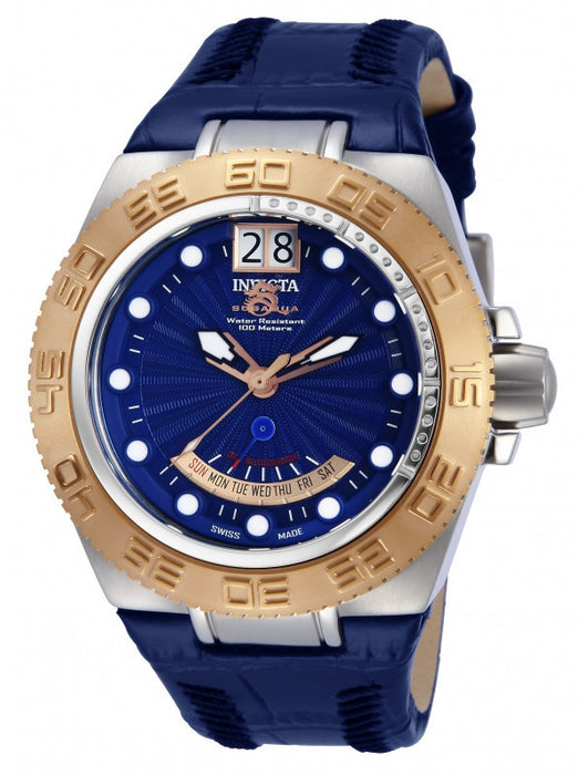 Invicta 10873 Men's Subaqua Blue Dial Blue Genuine Leather