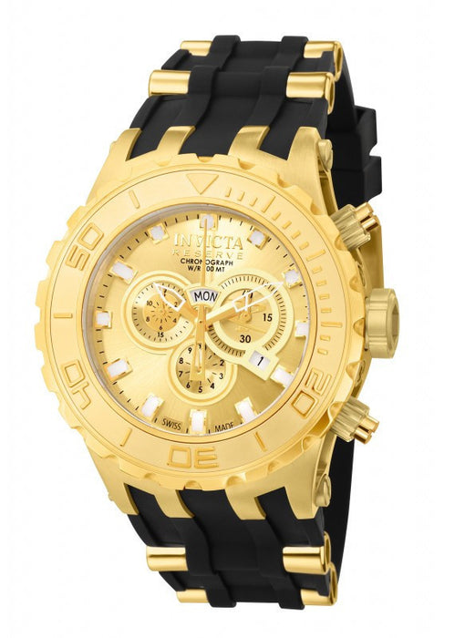 Invicta 6905 Mens Reserve Subaqua Specialty Swiss Made Chronograph 18k Gold Plated Watch