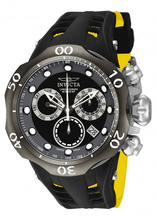 Invicta Men's 16996 Venom Analog Display Swiss Quartz Yellow Watch