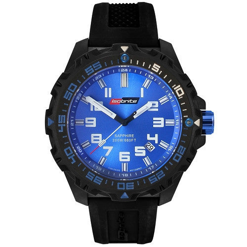 ISOBrite T100 Valor Series Black/Blue Watch, ISO301