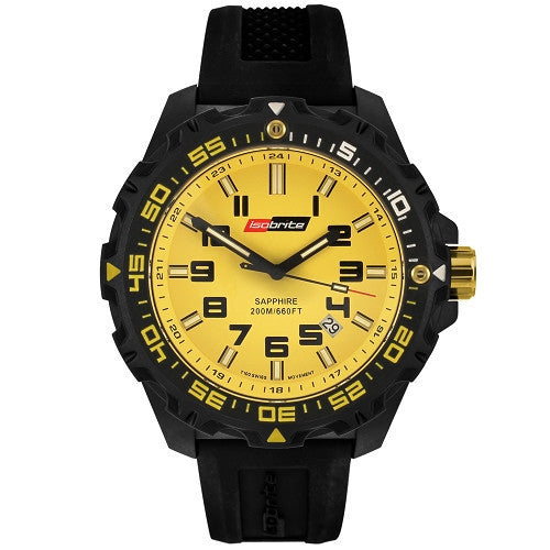 ISOBrite T100 Valor Series Black/Yellow Watch, ISO303