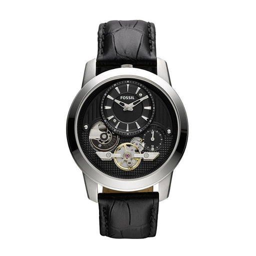 Fossil Grant Twist Leather Watch Black Me1113