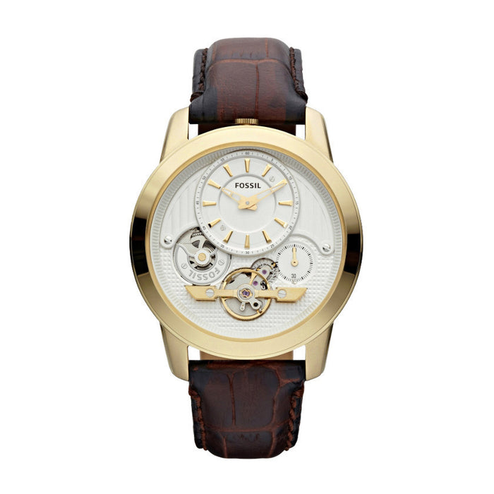 Fossil Grant Twist Leather Watch Brown Me1127