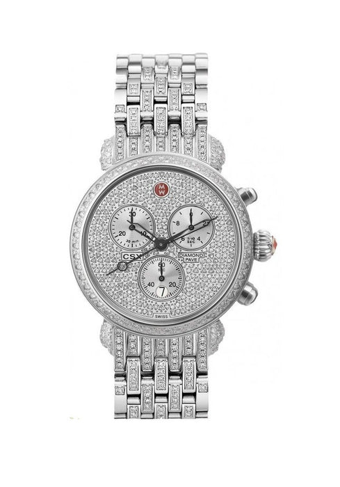 Michele Ultimate Pavé Diamond, Taper Diamond Bracelet Watch  MWW03C000504