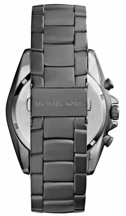 Michael Kors MK8340 Men's Lansing Chronograph Gunmetal Steel Bracelet and Dial