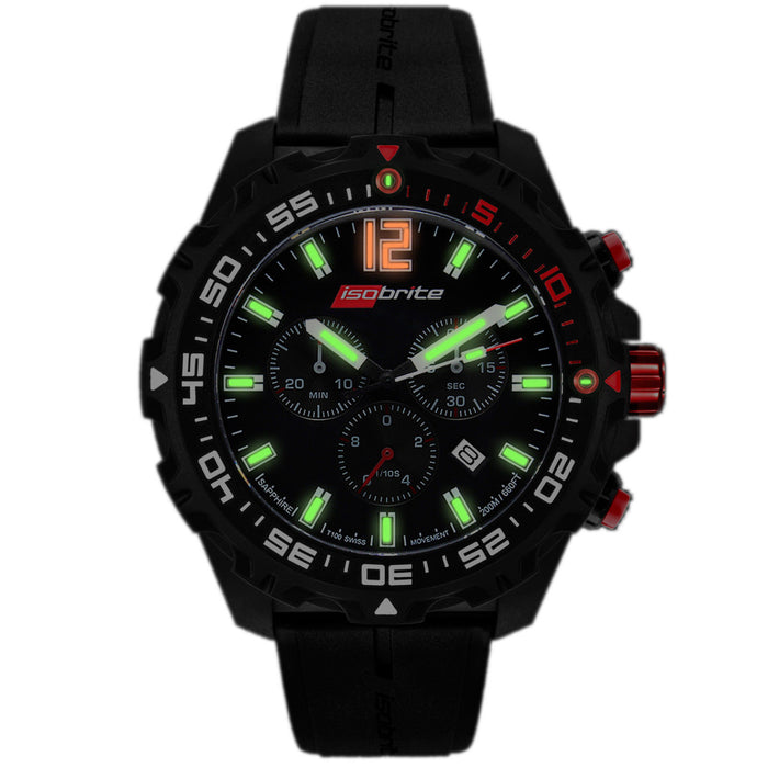 Isobrite Chronograph T100 Long Lifer Super Bright Watch by Armourlite ISO401