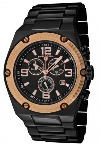 Swiss Legend Men's SL-40025P-BB-11-RB Throttle Black and Rose Gold Ion-Plated Stainless Steel Watch