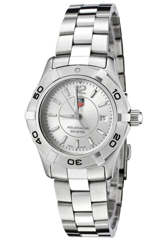 TAG-WAF1412.BA0823 Women's Aquaracer Stainless Steel Silver Dial Watch