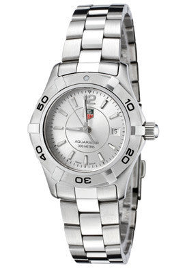 Tag Heuer WAF1412.BA0823 Women's Aquaracer Stainless Steel Silver Dial Watch