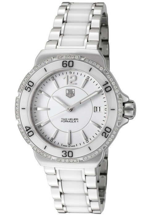 Women's Formula 1 White Dial Stainless Steel TAG-WAH1213.BA0861
