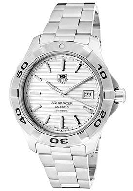 Men's Aquaracer White Dial Stainless Steel Bracelet