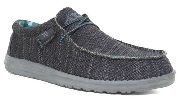 Hey Dude Men's Wally Sox Charcoal