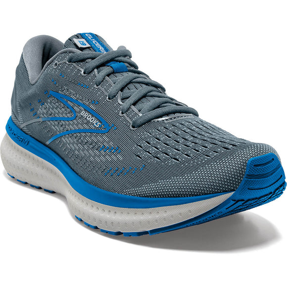Brooks Men's Glycerin 19 Quarry Grey Dark Blue WIDE 2E