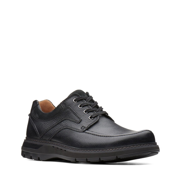 Clarks Unstructured Un Ramble Lace Black Leather