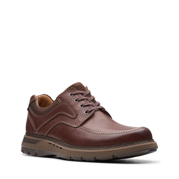 Clarks Unstructured Un Ramble Lace Mahogany Brown Leather