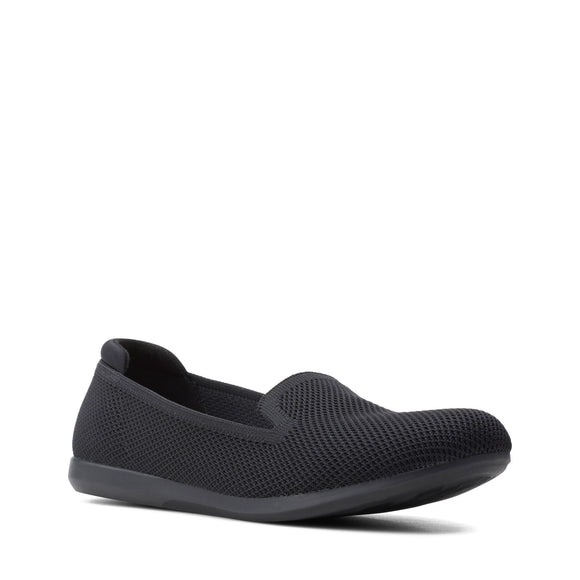 Clarks Women's CloudSteppers Carly Dream Black Flat