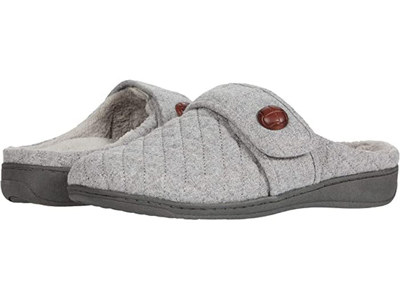 Vionic Women's Carlin Light Grey Backless slipper