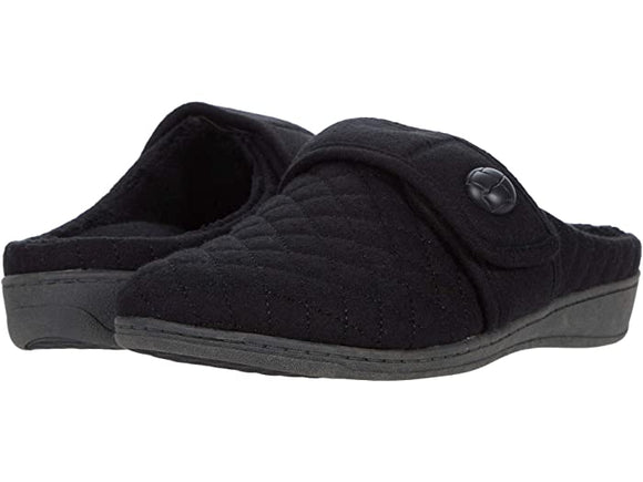 Vionic Women's Carlin Black Backless slipper