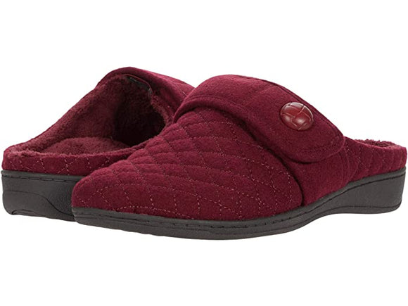 Vionic Women's Carlin Wine Backless slipper