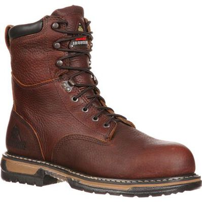 Rocky Iron Clad Waterproof 8 In Work Boot