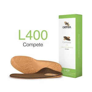 Aetrex L400 Mens Compete Orthotics Insoles for Active Lifestyles