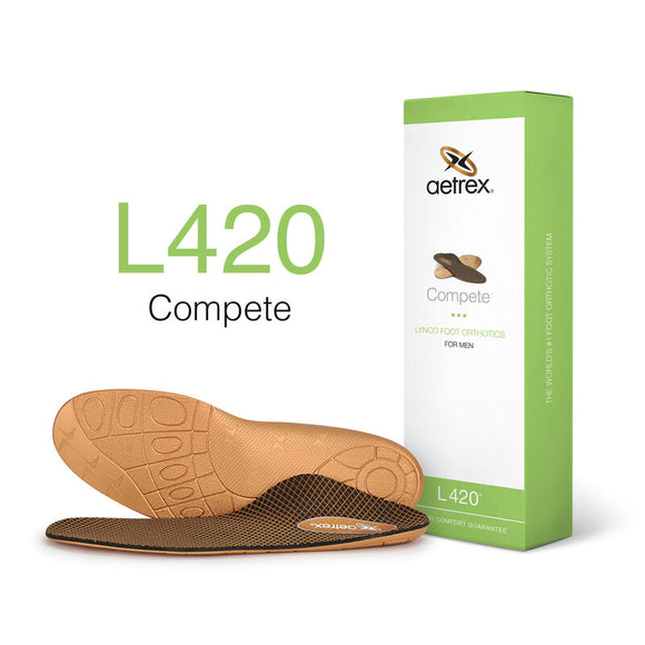 Aetrex L420 Men's Compete Posted Orthotics