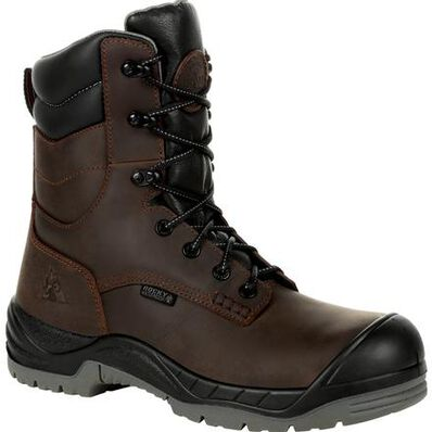 Rocky Men's Composite Toe Waterproof 8 Inch Brown