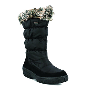 Spring Step Women's Vanish Pull On Tall Snow Boot Black