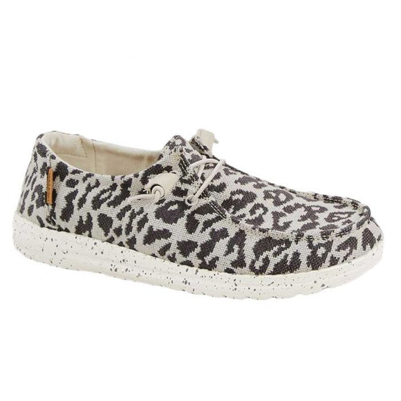 Hey Dude Women's Wendy Cheetah Grey
