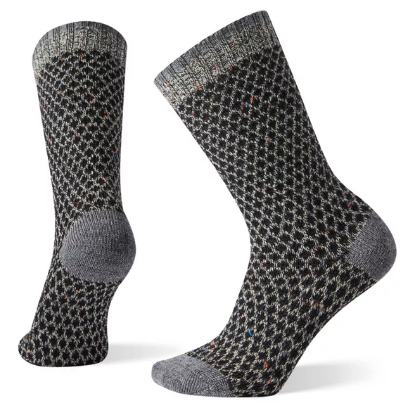 Smartwool Women's Popcorn Polka Dot Crew Black Multi Donegal Socks