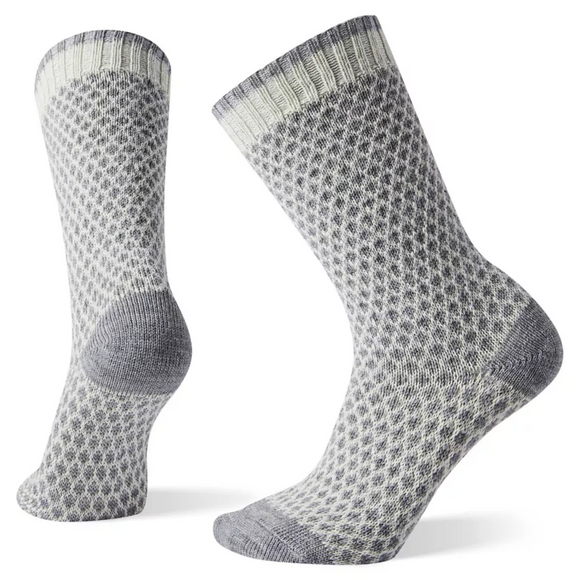 Smartwool Women's Popcorn Polka Dot Crew Natural Socks