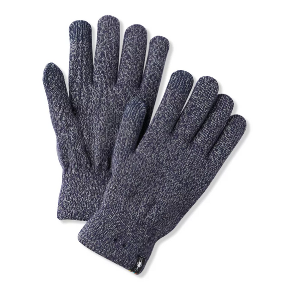 Smartwool Cozy Glove Deep Navy Light Gray Marl