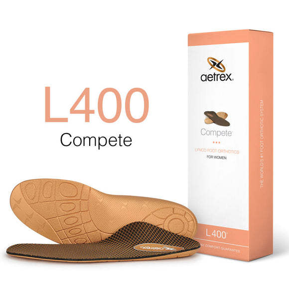 Aetrex L400 Women's Compete Orthotics Insoles for Active Lifestyles