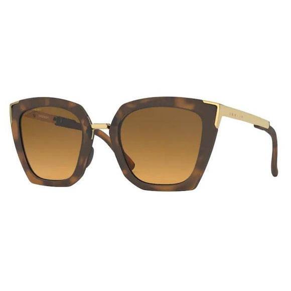 Oakley Women's Sideswept Matte Brown Tortoise Brown Gradient Polarized Sunglasses