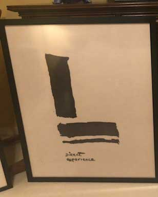 """Direct Experience"" - 29.5"" x 27.5"" - Framed Rice Paper Picture Poem"